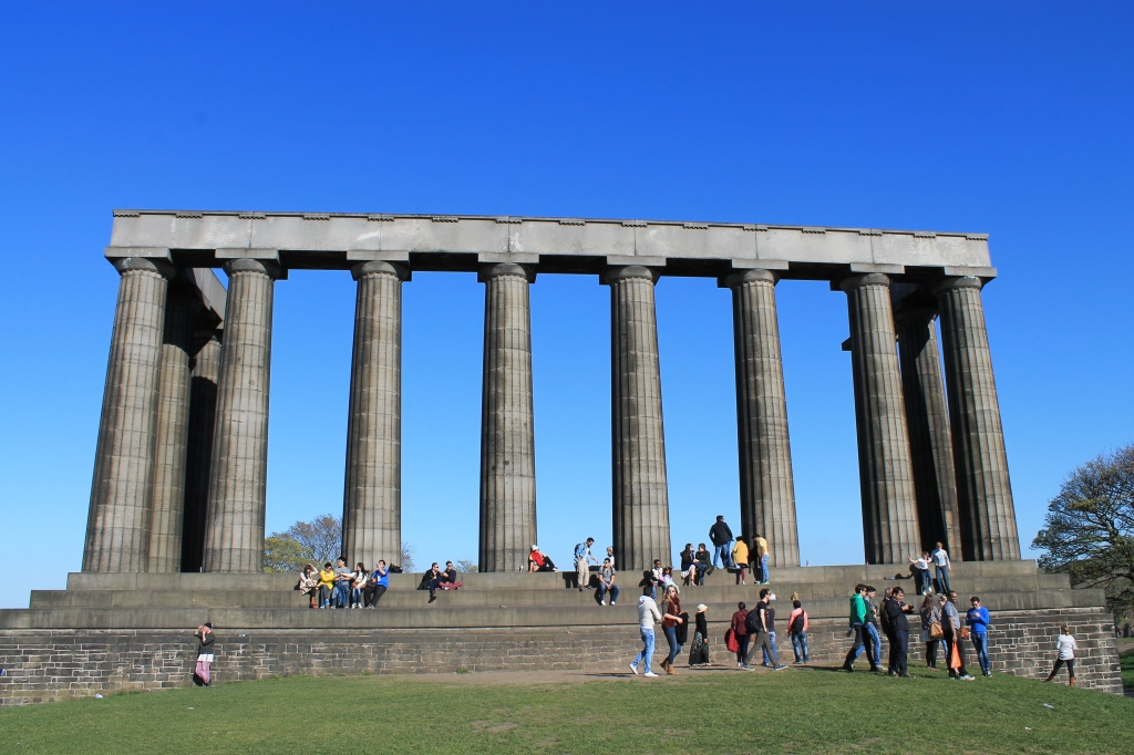 Pillars and blue skye